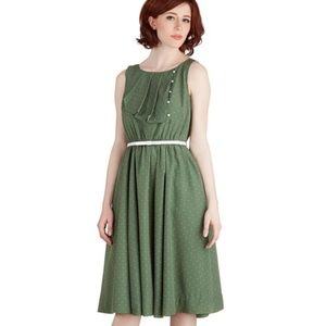 Modcloth Myrtlewood Sage Green vintage look swing